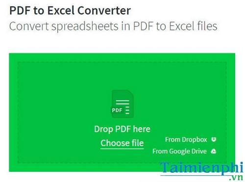 chuyen pdf sang excel cach doi file pdf sang xls