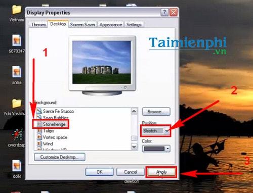 Đổi hình nền máy tính Win XP, thay ảnh desktop Windows XP 3