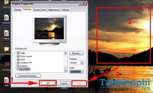 Đổi hình nền máy tính Win XP, thay ảnh desktop Windows XP 6