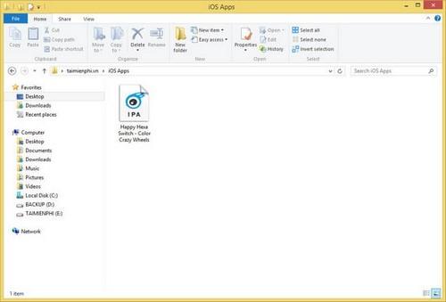 doi folder download ung dung tren itools
