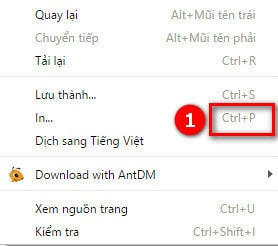 In trang web voi trinh duyet Coc Coc