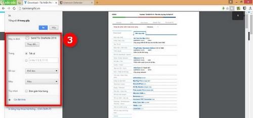 Cách in trang web trên trình duyệt Cốc Cốc sang PDF, Word
