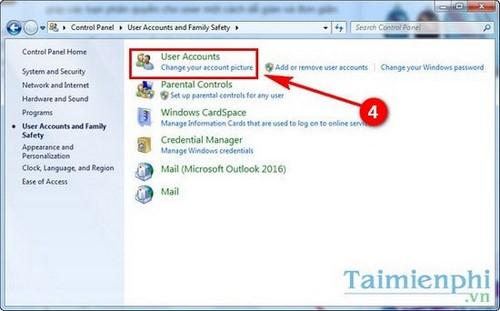 Phân quyền Admin cho User trong Win 7. 8.1, 10 3
