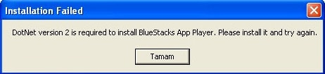 sua loi dotnet version 2 is required to install bluestacks app player