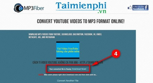 thu thuat tai video nhac youtube bang mp3fiber