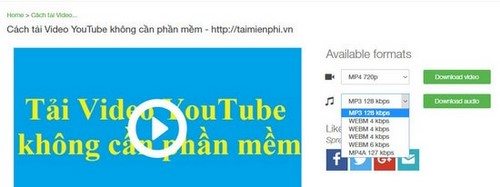 huong dan tai video nhac youtube bang savemedia