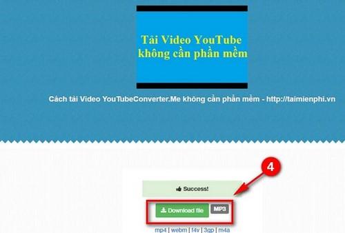 Tải video, nhạc YouTube bằng Youtubeconverter
