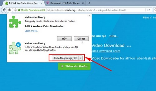 thu thuat tai video youtube bang add ons tren firefox