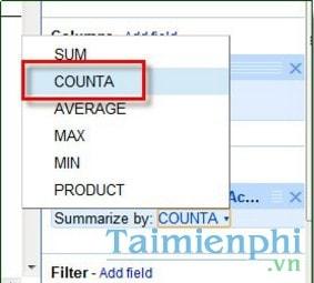 Cách dùng Pivot Table trong Google Docs, thống kê dữ liệu