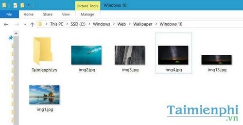 Xem hình nền win 10, folder chứa ảnh nền mặc định trong windows 10 2