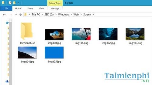 Xem hình nền win 10, folder chứa ảnh nền mặc định trong windows 10 3
