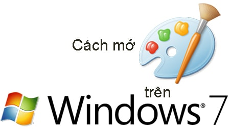 Cách mở Paint trong Windows 7, Open công cụ vẽ Paint, chỉnh sửa ảnh, ghép ảnh cơ bản