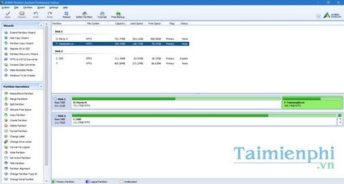 giveaway aomei partition assistant pro mien phi