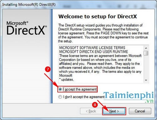 directx web installer