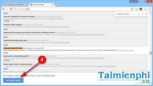 Bật, tắt tính năng tắt âm thanh tab trên Chrome