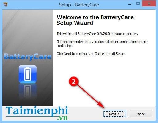 cach setup batterycare tren may tinh windows