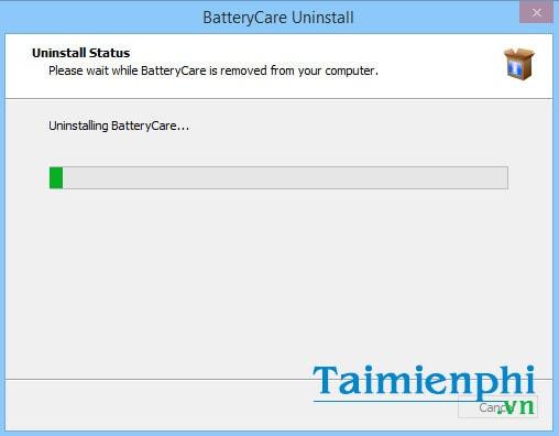 Cách gỡ bỏ, xóa BatteryCare trên máy tính Windows 7, 8, 8.1