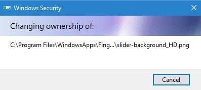 cach doi quyen quan tri windowsapps trong windows 10