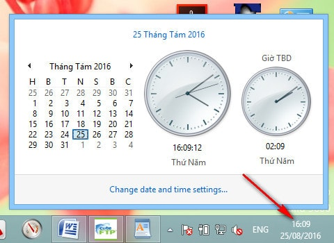 Đổi hiển thị định dạng 12 giờ sang 24 giờ trên máy tính 7