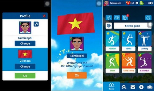 hoa minh vao olympic 2016 voi game rio 2016 olympic games