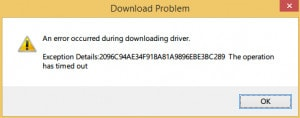 sua loi timeout khi download driver trong driver easy