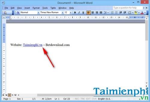 Cách tạo liên kết Hyperlink trong văn bản Word 3