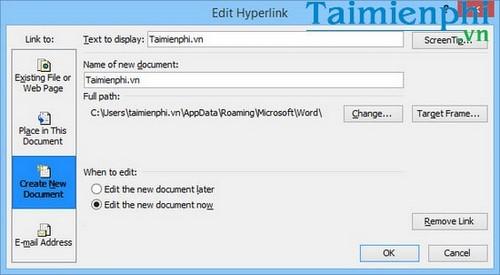 Cách tạo liên kết Hyperlink trong văn bản Word 6