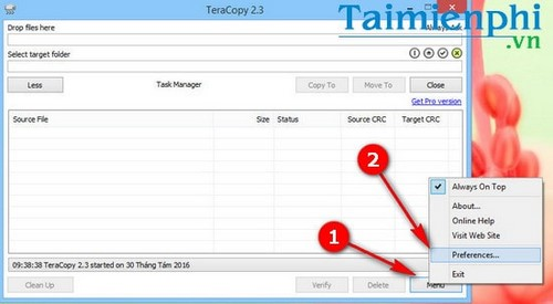 Automatically check data after copying on teracopy