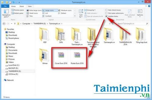 Ẩn, hiện thư mục, file trong Windows 7, 8, 8.1 trên máy tính 9