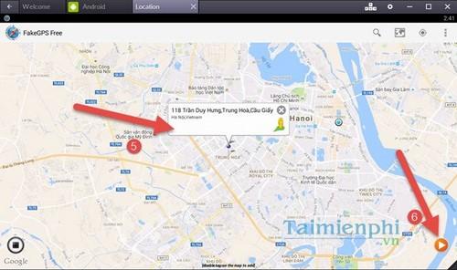 Bật GPS trên Bluestacks, Set Location định vị trên phần mềm