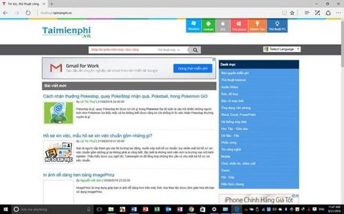 Cách lưu trang Web giống như File PDF trên Microsoft Edge