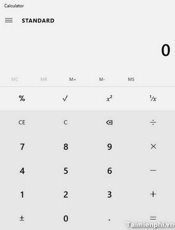 Khôi phục và cài đặt Calculator lại trên Windows 10