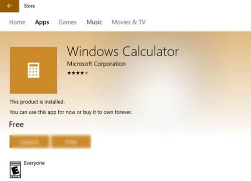 Khôi phục và cài đặt Calculator lại trên Windows 10 13