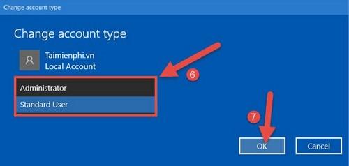 Phân quyền Admin cho User trong Win 7. 8.1, 10 14