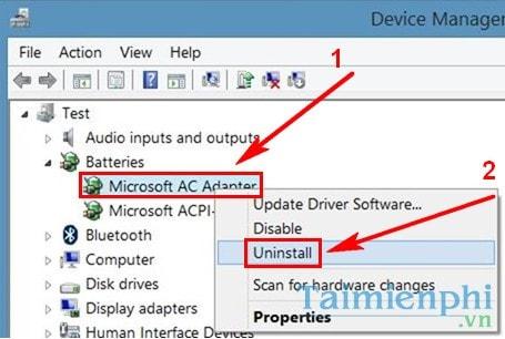 Sửa lỗi mất biểu tượng pin trên Windows 10, 7, 8.1 7