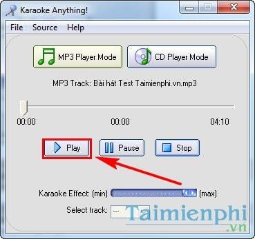 Tách lời, tạo nhạc beat, karaoke, ghi âm bài hát bằng Karaoke Anything 4