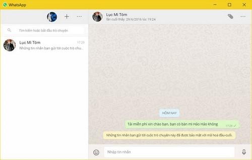 Tải và cài WhatsApp Desktop trên Windows 7