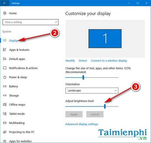 4 cách thay đổi độ sáng trên Windows 10 4