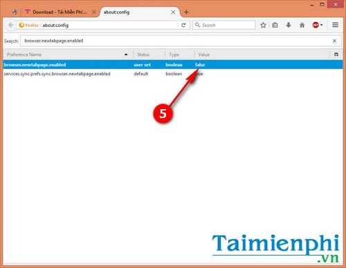 Ẩn, hiển thị mở tab trống New Tab trong Firefox