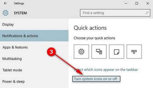 Ẩn, tắt biểu tượng, hiển thị icon trên Taskbar trong Windows 10 2
