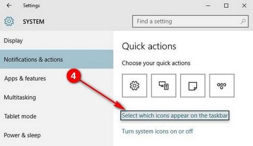 Ẩn, tắt biểu tượng, hiển thị icon trên Taskbar trong Windows 10 4
