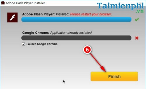 nang cap flash player trong win 10