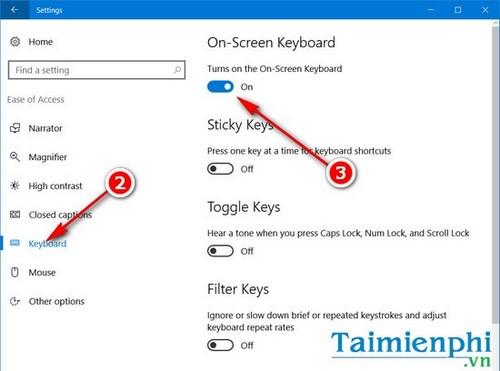 Cách mở bàn phím ảo trên Windows 10 5