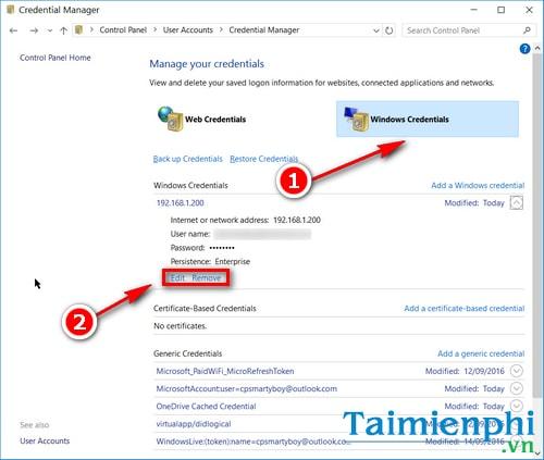 Cách quản lý, xem mật khẩu đã lưu trên máy tính Win 10 5