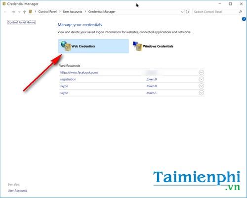Cách quản lý, xem mật khẩu đã lưu trên máy tính Win 10 3