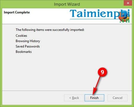 Chuyển bookmark từ Chrome sang Firefox, sao lưu bookmark từ Chrome sang Firefox