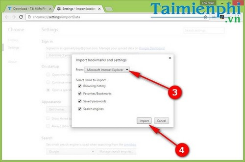 Chuyển bookmark, sao lưu, nhập bookmark từ Microsoft Edge sang Chrome