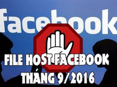 File host vào Facebook bị chặn tháng 9/ 2016