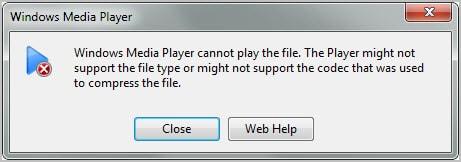 sua loi Windows Media Player cannot play the file