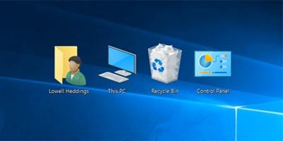 hien thi control panel tren desktop trong windows 10